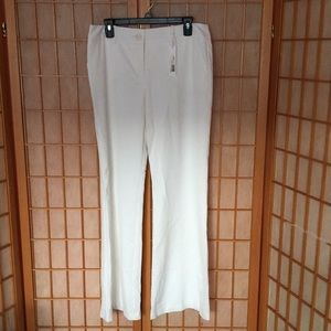 TRINA TURK WIDE LEG WHITE PANTS
